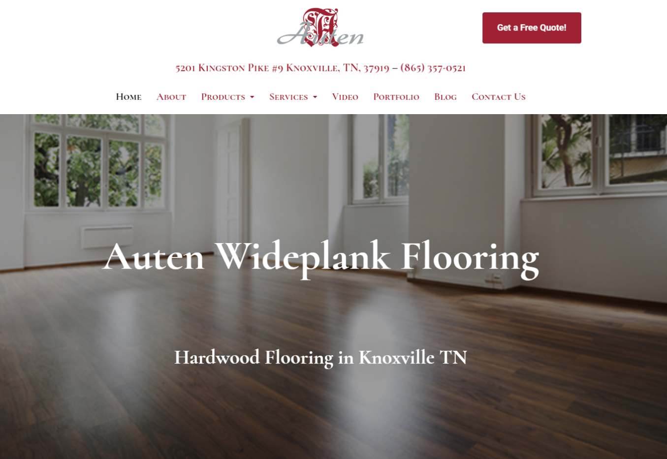Website Design Project - Auten Wideplank Flooring
